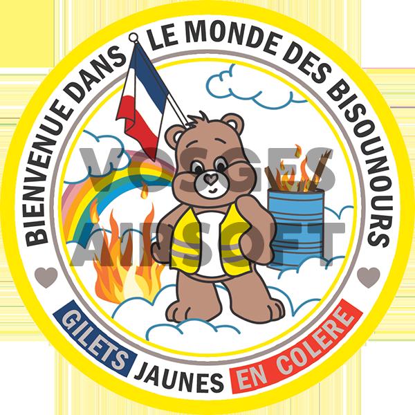 Ecusson Bisounours Gilet Jaune (FR)