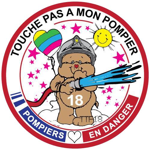 Ecusson Bisounours Pompier (FR)