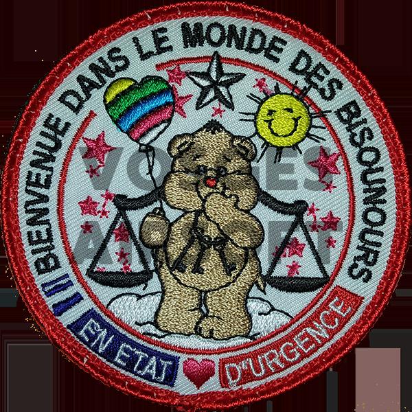 Ecusson Bisounours Justice (FR)