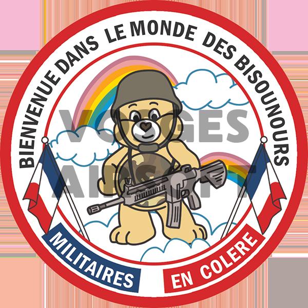 Ecusson Bisounours Militaires (FR)