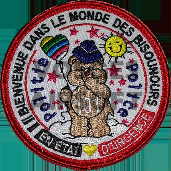 Écusson Bisounours Police (BELGIQUE)