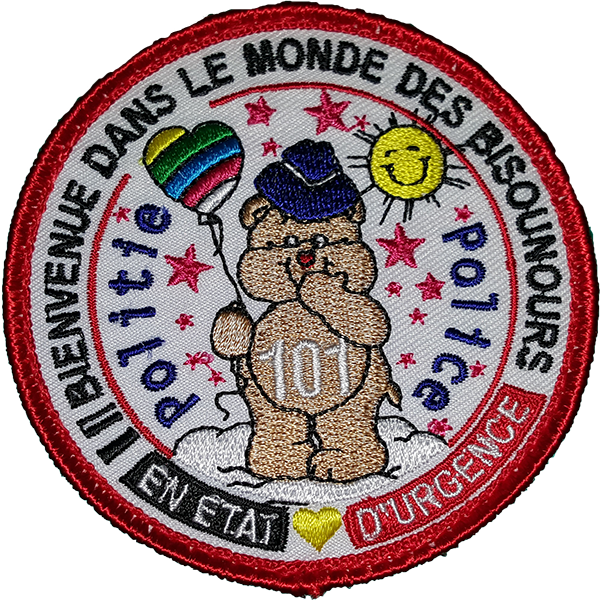 Ecusson Bisounours Police (BE)