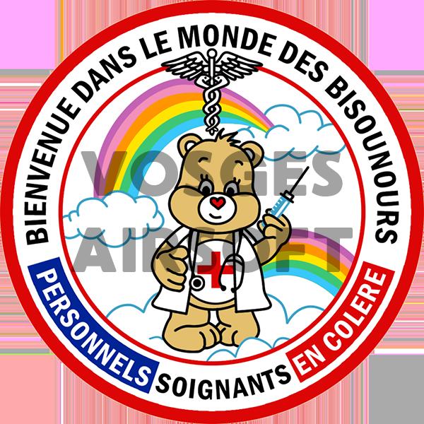 Ecusson Bisounours Personnels Soignants (FR)